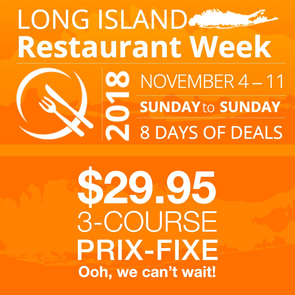 2018 Restaurant Week November