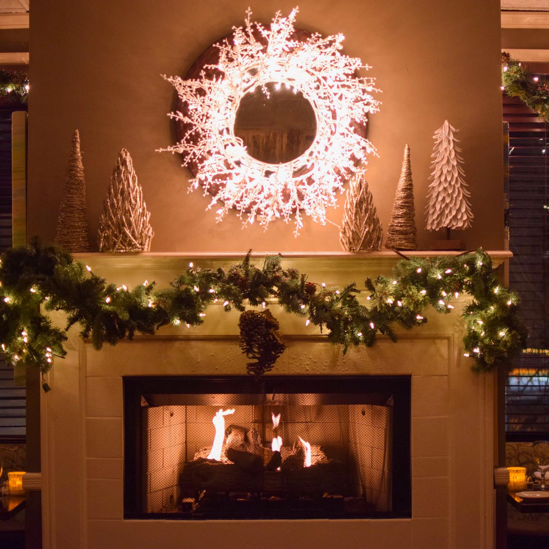 Christmas Fireplace Photo