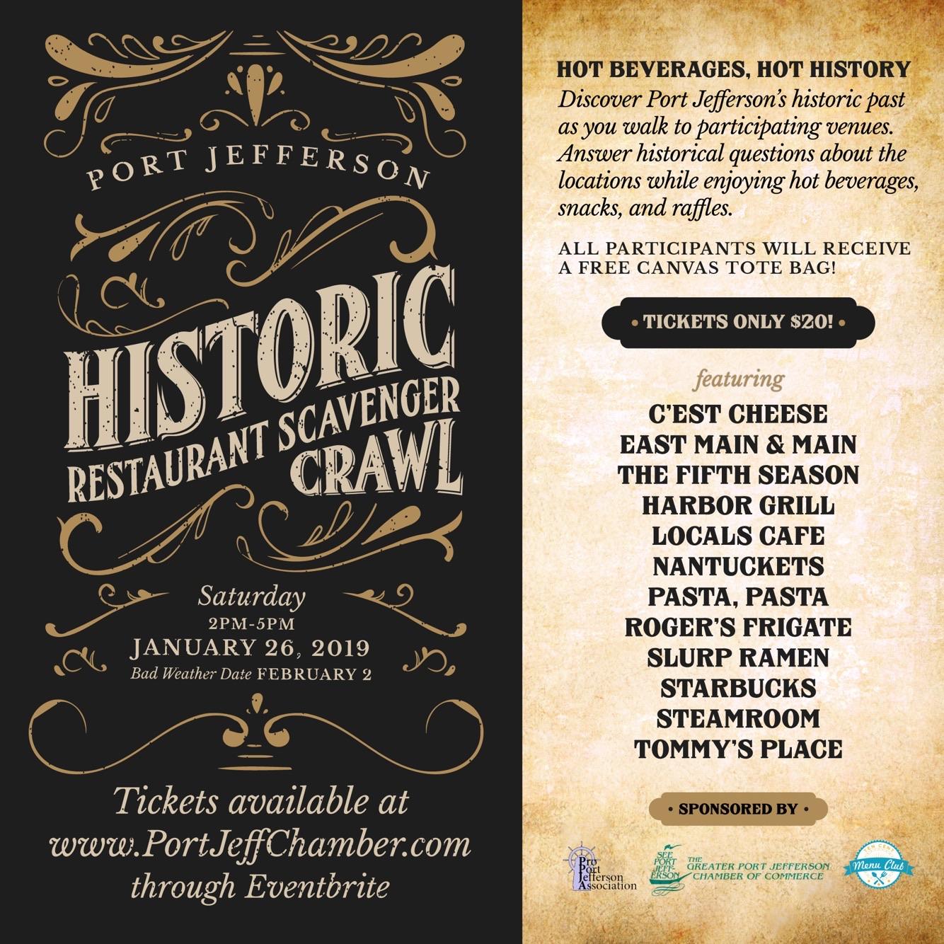 Historic Restaurant Scavenger Crawl 2019