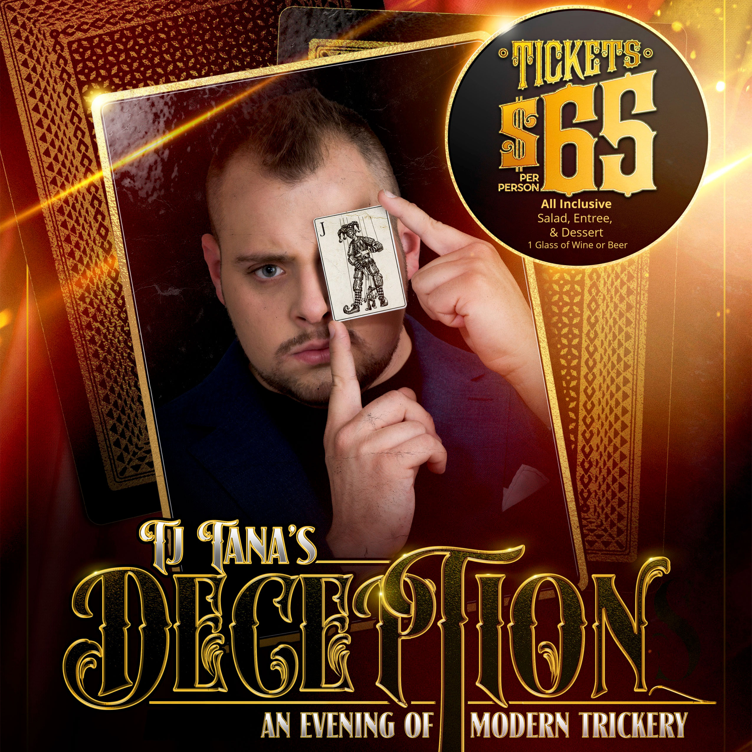 An Evening with  TJ Tana Magician, Illusionist & Mind Reader